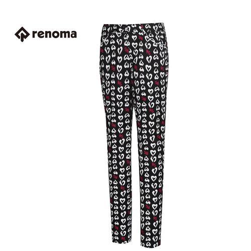 [레노마골프] 여성 캐주얼 패턴 슬림 팬츠 RAPT61611-BK