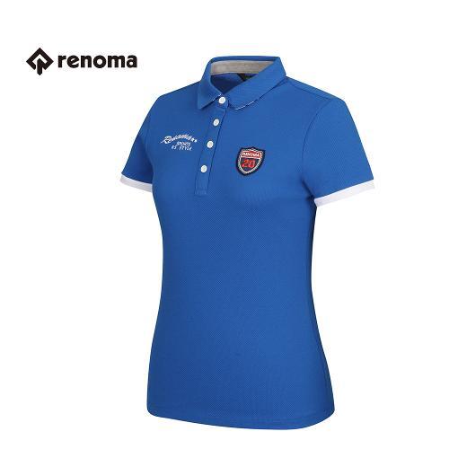 [레노마골프] 여성 소매 배색 포인트 카라 반팔 티셔츠 RATS79631-RB