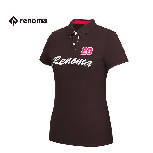 [레노마골프] 여성 로고 포인트 카라 반팔 티셔츠 RATS78631-BR