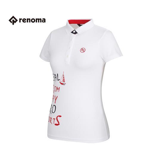 [레노마골프] 여성 프린팅 카라 반팔 티셔츠 RATS72631-WH
