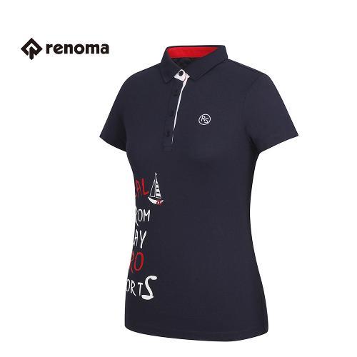 [레노마골프] 여성 프린팅 카라 반팔 티셔츠 RATS72631-NY