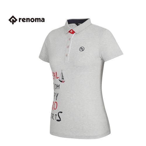 [레노마골프] 여성 프린팅 카라 반팔 티셔츠 RATS72631-MG