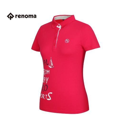 [레노마골프] 여성 프린팅 카라 반팔 티셔츠 RATS72631-HP