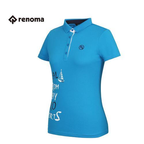 [레노마골프] 여성 프린팅 카라 반팔 티셔츠 RATS72631-DB