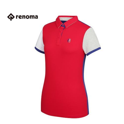 [레노마골프] 여성 캐주얼 배색 카라 반팔 티셔츠 RWTYG6110-500