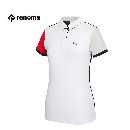 [레노마골프] 여성 캐주얼 배색 카라 반팔 티셔츠 RWTYG6110-100