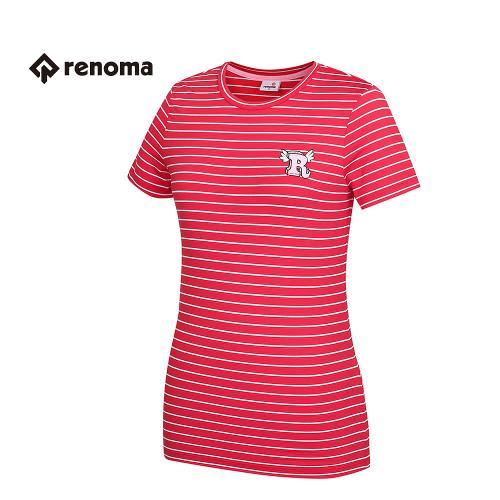 [레노마골프] 여성 스트라이프 반팔 티셔츠 RWTRG6126-500