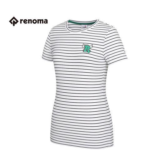 [레노마골프] 여성 스트라이프 반팔 티셔츠 RWTRG6126-100