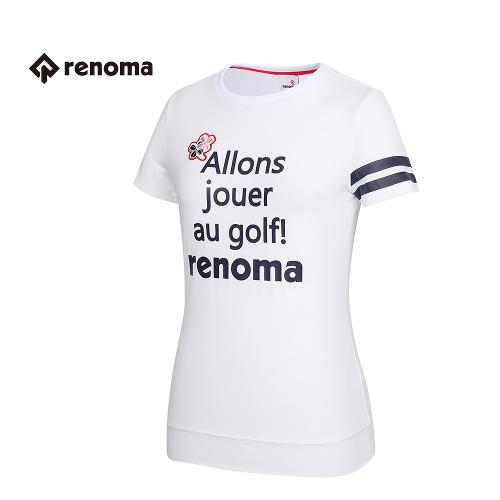 [레노마골프] 여성 레터링 반팔 티셔츠 RWTRG6115-100