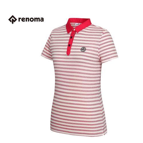 [레노마골프] 여성 스트라이프 카라 반팔 티셔츠 RWTPG6142-500