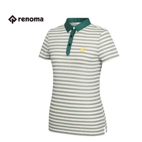 [레노마골프] 여성 스트라이프 카라 반팔 티셔츠 RWTPG6142-131