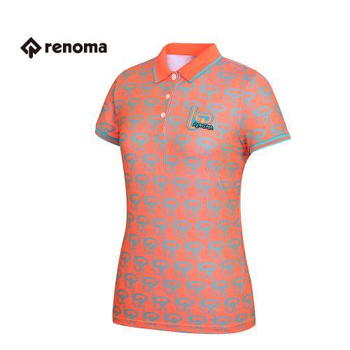 [레노마골프] 여성 패턴 카라 반팔 티셔츠 RWTPG6119-301