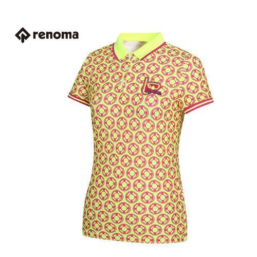 [레노마골프] 여성 패턴 카라 반팔 티셔츠 RWTPG6119-130