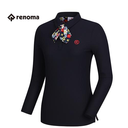 [레노마골프]여성 꽃무늬 스카프 카라 티셔츠 RWTPH5102-915