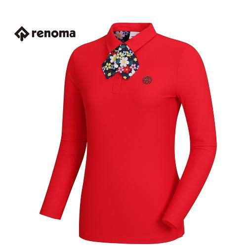 [레노마골프]여성 꽃무늬 스카프 카라 티셔츠 RWTPH5102-500