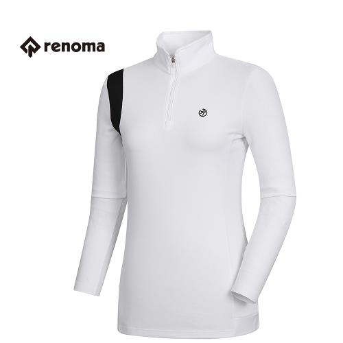 [레노마골프]여성 기능성 반집업 롱 티셔츠 RWTHH5112-100