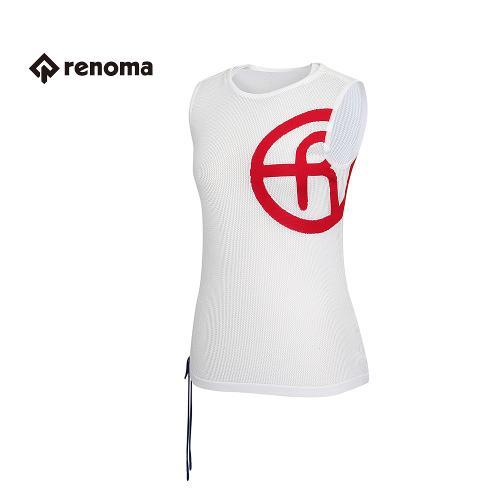 [레노마골프] 여성 로고 포인트 메쉬 라운드 민소매 스웨터 RWSVG6205-100
