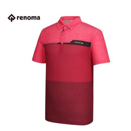 [레노마골프] 남성 컬러 블록 배색 카라 반팔 티셔츠 RMTYG2120-500