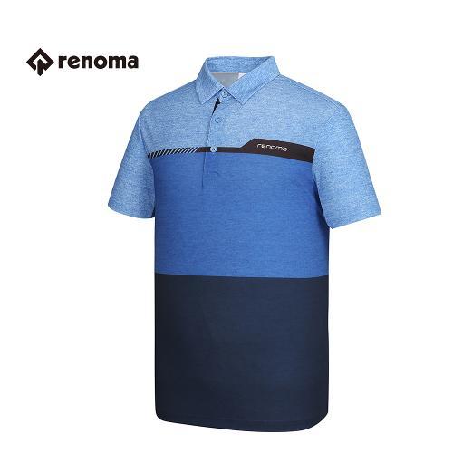 [레노마골프] 남성 컬러 블록 배색 카라 반팔 티셔츠 RMTYG2120-110