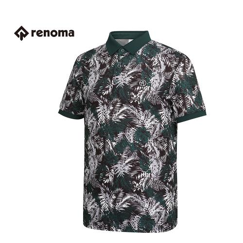 [레노마골프] 남성 패턴 나염 카라 반팔 티셔츠 RMTPG2134-131