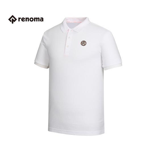 [레노마골프] 남성 솔리드 카라 반팔 티셔츠 RMTPG2114-100