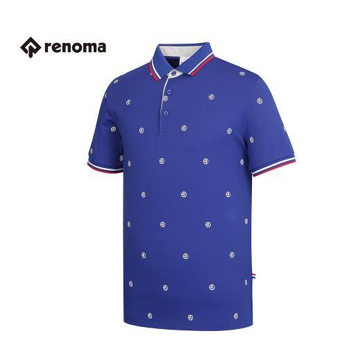 [레노마골프] 남성 로고 패턴 카라 반팔 티셔츠 RMTPG2107-110