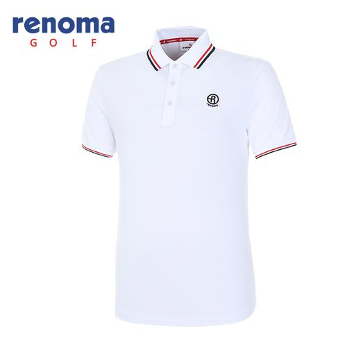 [레노마골프]남성 솔리드 반팔 티셔츠 RMTPH2101-100