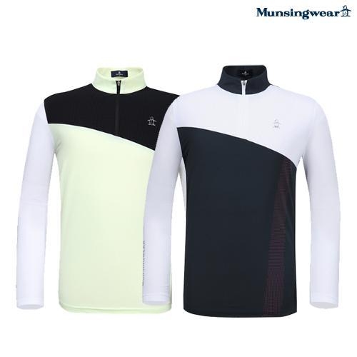 [20SS]남성 컬러블록 냉감 반집업 긴팔티셔츠 (M0221MTL43)