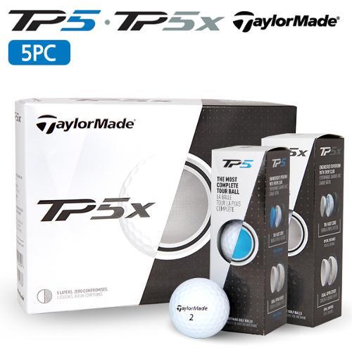 [테일러메이드] 17년 신형 TP5/TP5X [5피스] 투어 골프공/골프볼