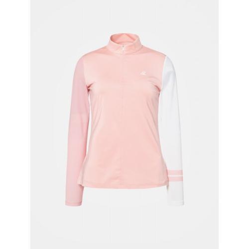[빈폴골프] 여성 새먼 반집업 냉감 티셔츠 (BJ9641A029)