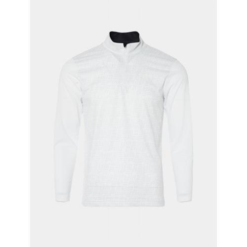 [빈폴골프] [NDL라인] 남성 화이트 뉴 로고 그래픽 반집업 티셔츠 (BJ0441M481)
