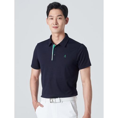 [빈폴골프] 남성 네이비 클래식 에센셜 칼라 티셔츠 (BJ0342B23R)