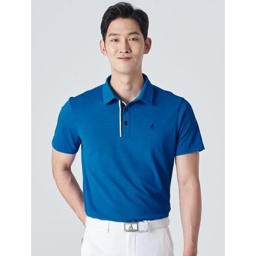 [빈폴골프] 남성 블루 클래식 에센셜 칼라 티셔츠 (BJ0342B23P)