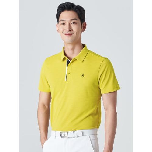[빈폴골프] 남성 머스터드 클래식 에센셜 칼라 티셔츠 (BJ0342B23G)
