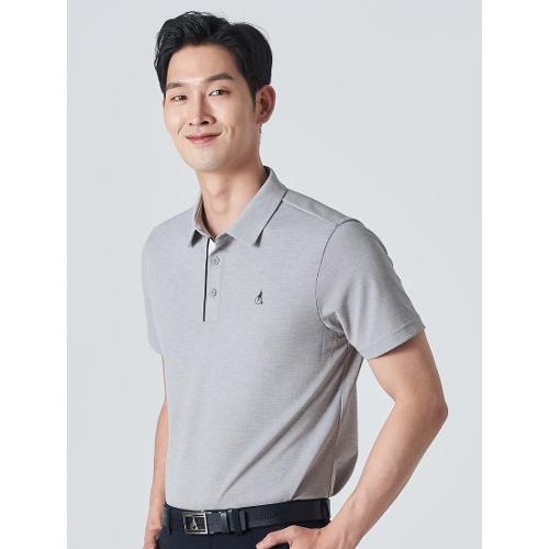 [빈폴골프] 남성 그레이 클래식 에센셜 칼라 티셔츠 (BJ0342B233)