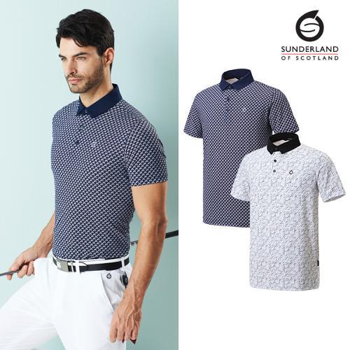 선덜랜드 남성 냉감 프린트 티셔츠 - 16021TS07