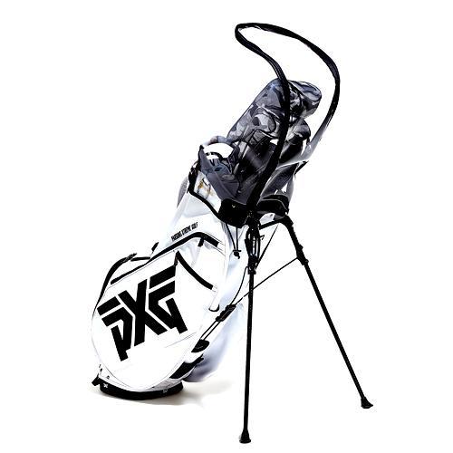 [오특]테크스킨 NEW퓨어커버 골프백 투명커버 캐디백 후드커버_투명 4구 볼주머니 사은품