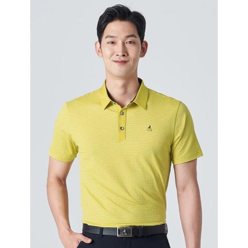 [빈폴골프] 남성 옐로우 핀 스트라이프 시어서커 칼라 티셔츠 (BJ0342B16E)