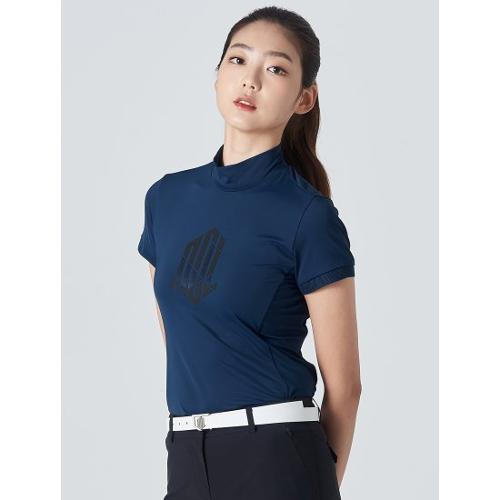 [빈폴골프] [NDL라인] 여성 블루 빅로고 하이넥 티셔츠 (BJ0442L55P)