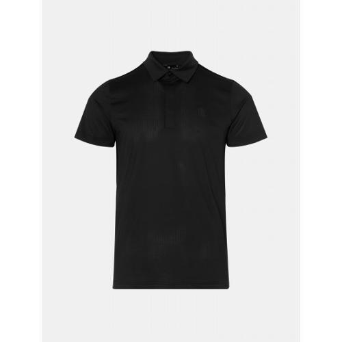 [빈폴골프] [NDL라인] 남성 블랙 솔리드 백 메쉬 칼라 티셔츠 (BJ0442M495)