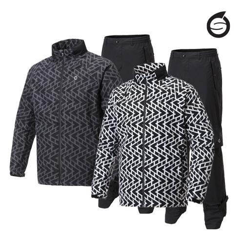 선덜랜드 남성 프린트 비옷 상하의세트 - 16051RW02