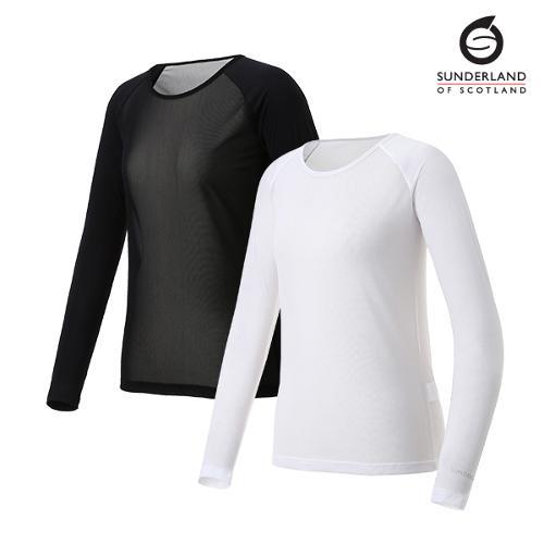 선덜랜드 여성 라글랑 메쉬 냉감 티셔츠 - 16022IW25