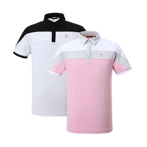 이안폴터 디자인 남성 타공반팔 티셔츠 - 3602-101-68