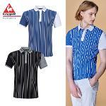 [20SS 신상]남성 스트라이프 소매 배색 냉감 반팔 티셔츠 (G0221MTS44)