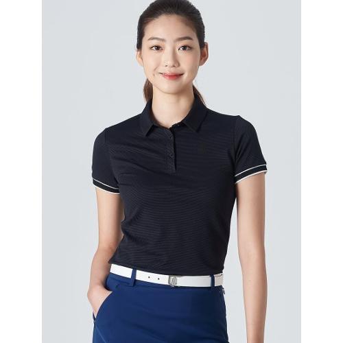 [빈폴골프] [NDL라인] 여성 블랙 텍스처 칼라 티셔츠 (BJ0442L525)