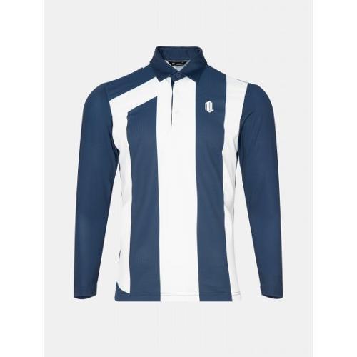 [빈폴골프] [NDL라인] 남성 블루 로고 포인트 칼라 티셔츠 (BJ0441M47P)