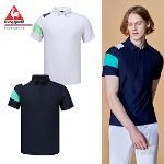 [20SS 신상]남성 컬러 배색 허니콤 반팔 티셔츠 (G0221MTS48)
