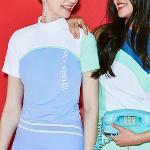 [르꼬끄골프] [20SS 신상]여성 져지 로메리나 세미하이넥 냉감 티셔츠 (G0222LTS43)