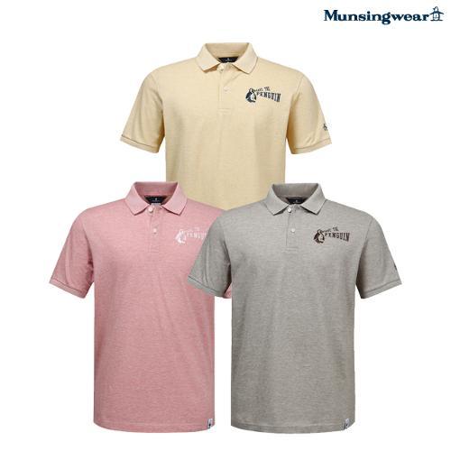 [세이브 더 펭귄]남성 수입 내츄럴 코튼 반팔 티셔츠 (M0211MTS58)