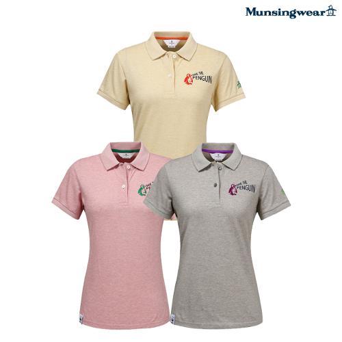 [먼싱웨어] [세이브 더 펭귄]여성 수입 내츄럴 코튼 티셔츠 (M0112LTS3A)